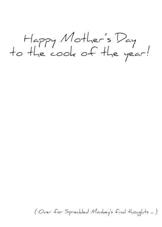 "Inside of ""Good Cook (Mothers Day)"" card"